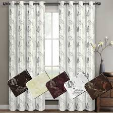 Embroidered Curtain Panels Olivia Embroidered Lined Curtain Panels Set Of 2