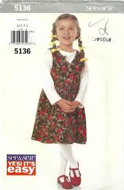 classy patterns butterick 5136 very easy girls jumper dirndl