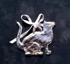 seagull pewter canada christmas cat ornament cat gifts