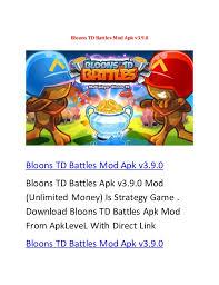 bloons td battles apk bloons td battles apk v3 9 0 mod