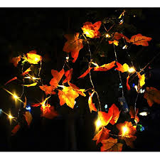 maple leaf garland with lights sexyrobot 9 8 feet fall maple leaf garland battery powered lighted