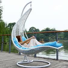 chaise suspendu extérieur extérieur balançoire rotin panier suspendu fauteuil