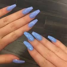 baby blue acrylic nails
