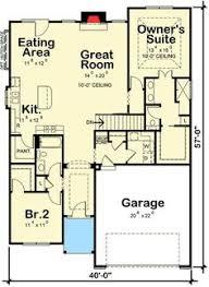 Master Suite Floor Plan Plan 89840ah Craftsman Home Plan With Major Curb Appoeal