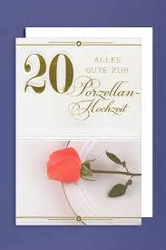 zum 20 hochzeitstag porzellan hochzeit 20 hochzeitstag grußkarte 16x11cm 508735