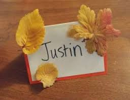 thanksgiving place card craft all network