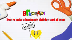 how to make a handmade birthday card at home tutorial 2016 youtube