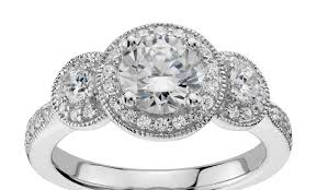 engagement rings three stone princess cut trellis diamond ring