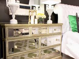 Silver Mirrored Bedroom Furniture Silver Mirrored Dresser Contemporary Bedroom The Apartment