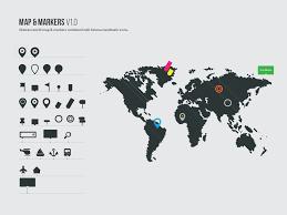 vector world map u0026 markers theme raid