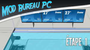 bureau avec ordinateur intégré projet mod bureau pc é 1