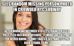 Meme Nyc - random missing person photo in crowded nyc subway
