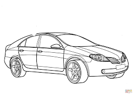 nissan skyline drawing outline nissan primera coloring page free printable coloring pages
