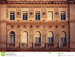 front of a renaissance building with symbolic relief decorations