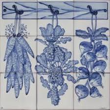 Portuguese Tiles Kitchen - 1124 reproduction portuguese artistic designs painted animal blue