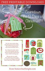 free printable u0027the 12 days of christmas u0027 tags christmas tag