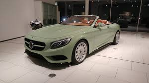 green mercedes carlsson mercedes s class cabriolet u201cdiospyros u201d is pistachio green