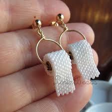earrings paper beaded toilet paper earrings on sterling silver posts