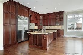Dark Cherry Kitchen Cabinets Traditional Dark Wood Cherry Kitchen Cabinets 53 Kitchen Design