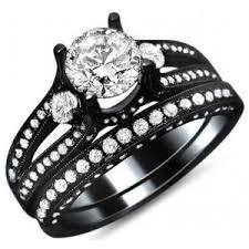 black bridal sets black engagement rings for wedding ideas photos