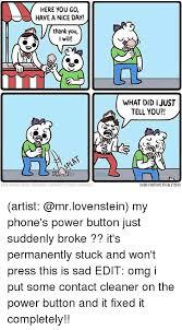 Button Broke Meme - 25 best memes about fixed it fixed it memes