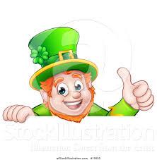 vector illustration of a happy st patricks day leprechaun giving a