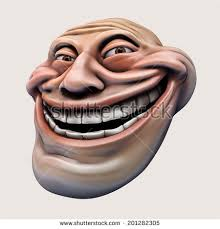Laughing Face Meme - trollface laughing internet meme troll head stock illustration
