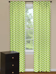 Chevron Style Curtains Modern Curtain Panels With Chevron Pattern In Green And White