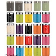coloured canisters ebay