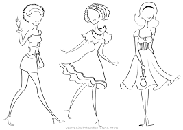 14 printable pictures of fashion design page print color craft