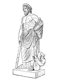 imagenes de zeus para dibujar faciles dibujo para colorear asklepios img 18620