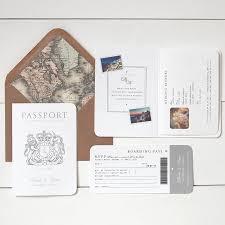 Invitation Cards Uk Around The World U0027 Passport Wedding Invitation Passport Wedding