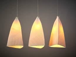 Bar Light Fixtures Lined Porcelain Cone Pendant Lights Sevensmith