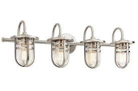 Glass Vanity Light Fabulous 4 Light Bathroom Vanity Lights Shop Houzz Kenroyhome
