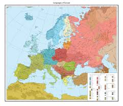 Maps Of Europe by Large Detailed Linguistic Map Of Europe Europe Large Detailed