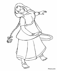 folk dancer u2013 coloring page pitara kids network