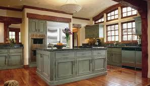 rustic kitchen cabinets design tile floor marble countertops brown