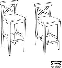 download ikea ingolf bar stool w backrest 24 3 4