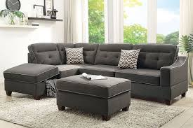 couch and ottoman set black fabric sofa black and grey fabric sofa black and red