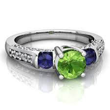 peridot and sapphire art deco ring c2632 wprsppr