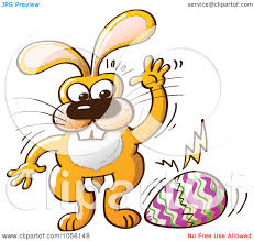 royalty free vector clip art illustration of a yellow bunny