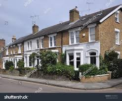 period house terrace 19th century english victorian period stock photo
