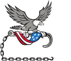 Bald Eagle On Flag Illustration Of An American Bald Eagle Clutching With Its Talon A
