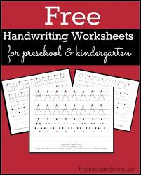 collections of printable writing worksheets for kindergarten