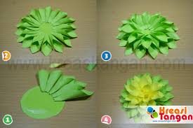 cara membuat bunga dari lipatan kertas home kerajinan tangan kertas lipat