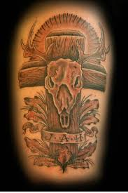 deer skull and cross picture at checkoutmyink com