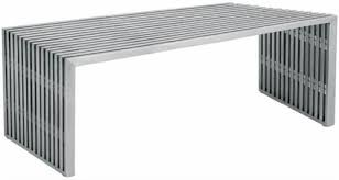 Amici Coffee Table Nuevo Amici Bench Stainless Steel Hgdj122 Modernselections