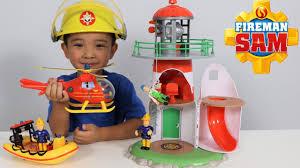 fireman sam lighthouse playset toys unboxing fun wallaby