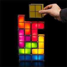 Diy Led Desk L Tetris Stackable Led Desk L Thinkgeek