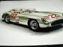 stirling moss mercedes 300slr mille miglia 1955 christmas getwell